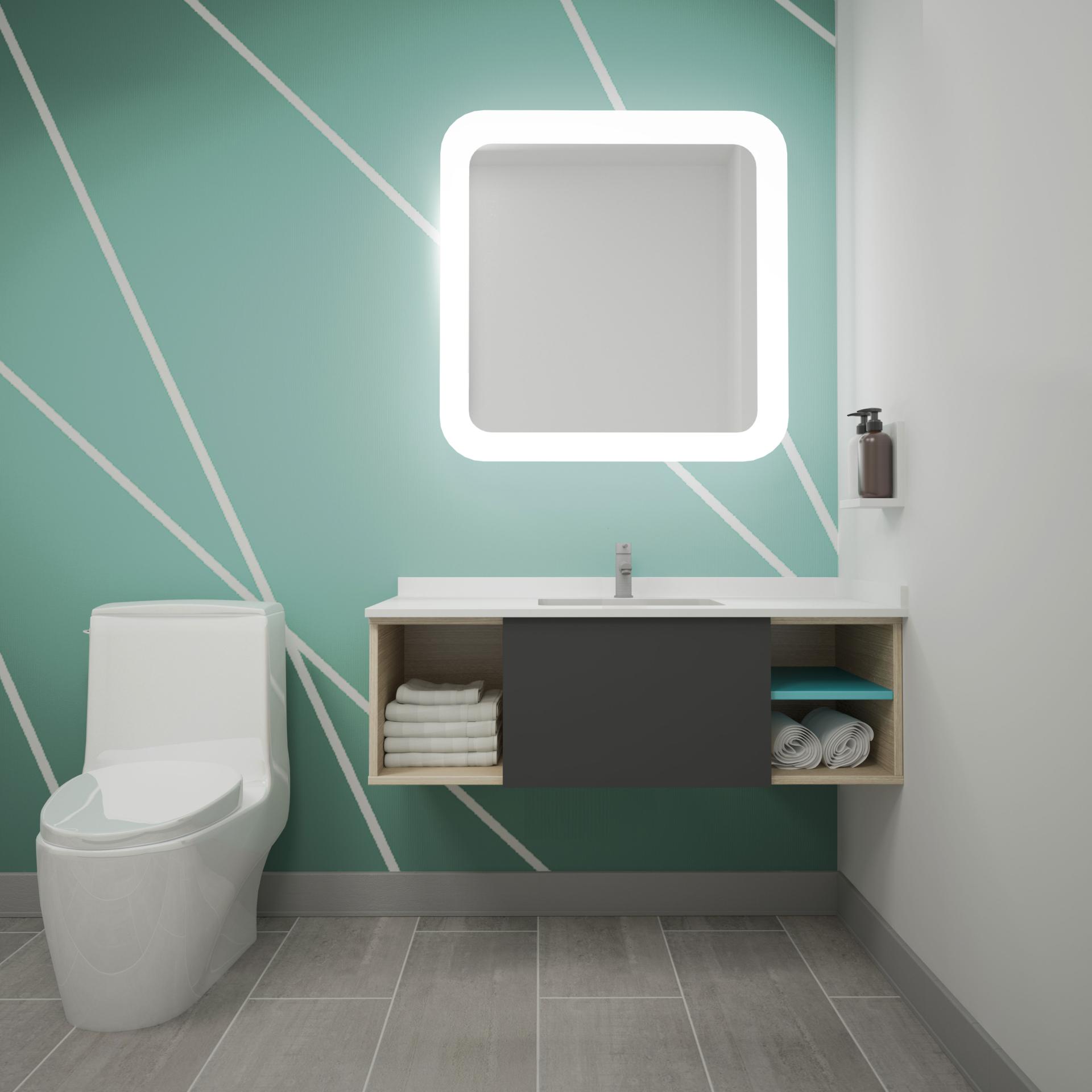 avid Hotels bathroom