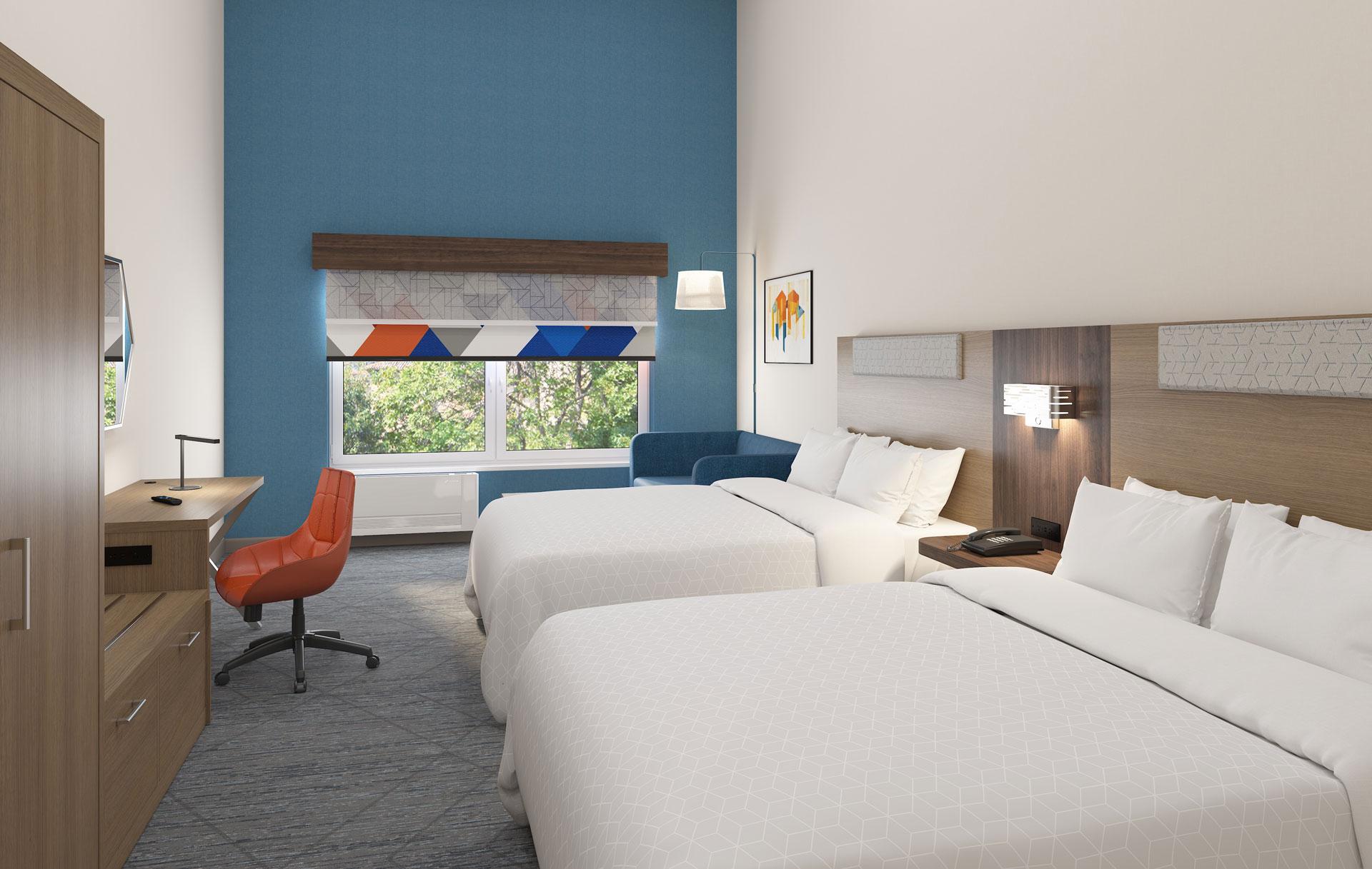 Holiday Inn Express hotel room