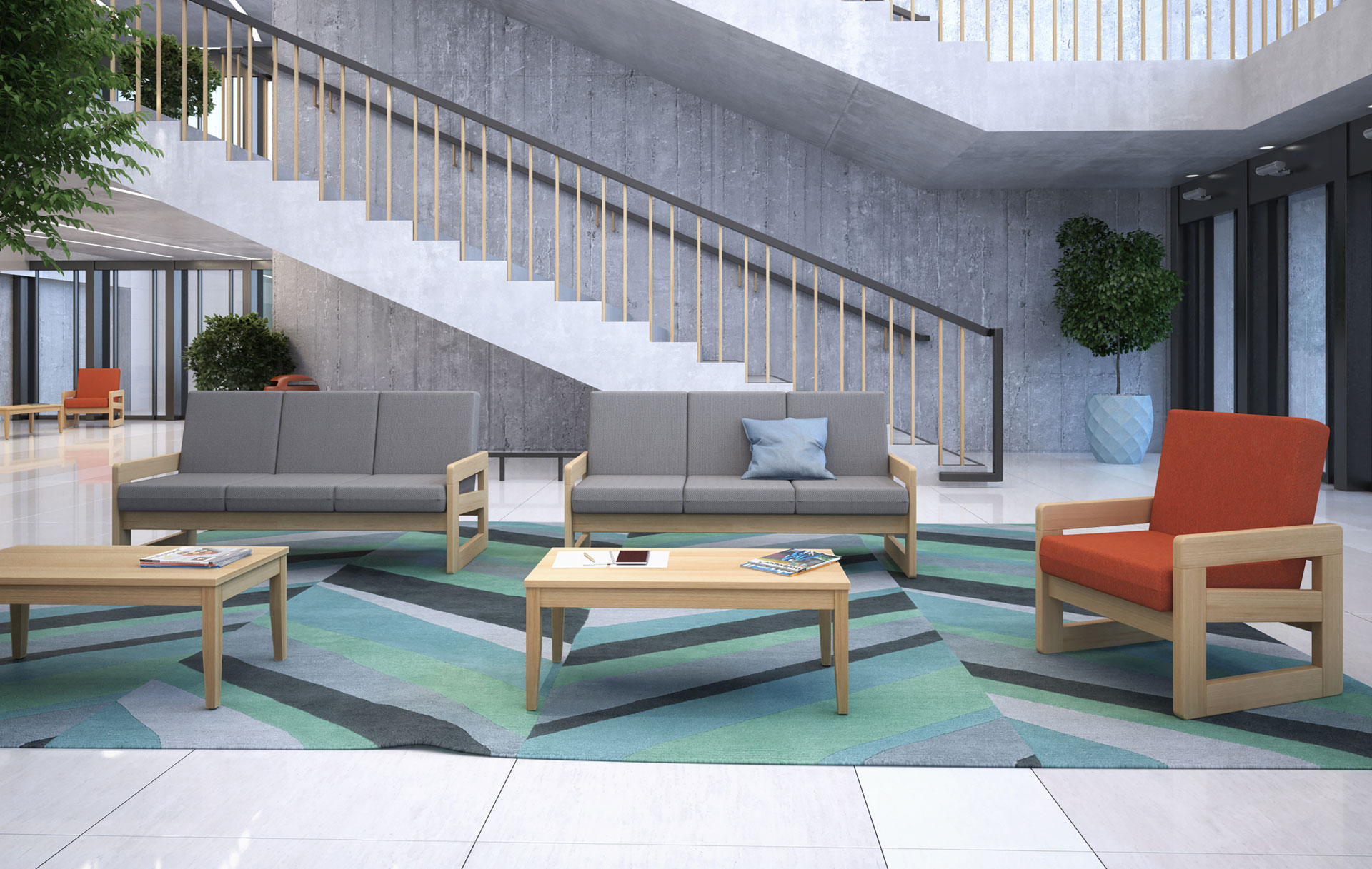 Contemporary soft seating collection